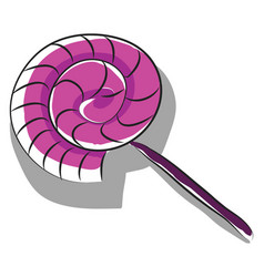a purple lollipop or color vector image