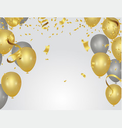 abstract background party celebration confetti vector image