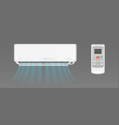 Air conditioner with cold wind and remote control vector