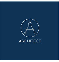 architect logo a monogram vector image