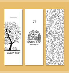 Banners design idea for bakery company vector