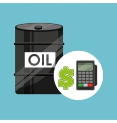 barrel oil concept calculator planning money vector image