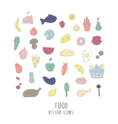 Big collection of food icons vector
