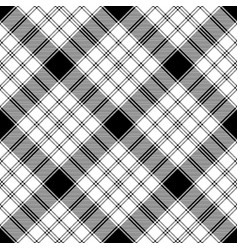 black and white check diagonal texture plaid vector image