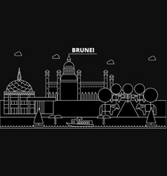 Brunei silhouette skyline brunei city vector
