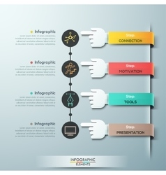 Business hands teamwork infographics template vector