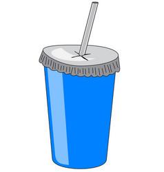 Cardboard drink cup vector