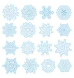 Christmas Snowflake set EPS 10 vector image
