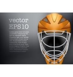 Classic Goalkeeper Hockey Helmet vector