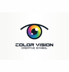 color vision camera eye creative symbol concept vector image