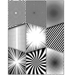 Comic monochrome vertical concept vector