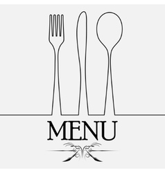 Cutlery black silhouette vector