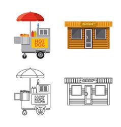 Design of market and exterior symbol vector