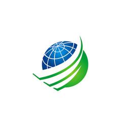 Earth globe sphere abstract logo vector