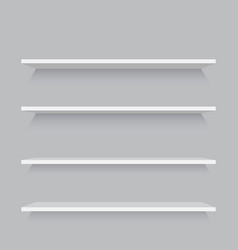 empty shelves template vector image
