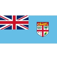 Flag of Fiji in correct size and colors vector image