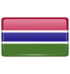 Flags Gambia in the form of a magnet on vector