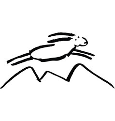 flying sheep of white color vector image