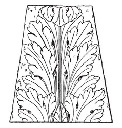French leaf renaissance design tend to look more vector