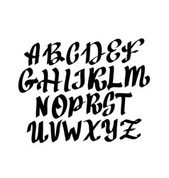 Full alphabet in gothic style vector