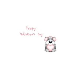 Funny valentine cat on white background vector image