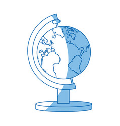 Globe map earth world atlas icon vector