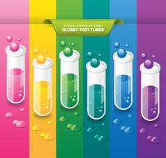 Glossy Test Tubes vector