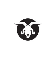 Goat black animals logo and symbol vector