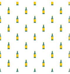 green bottle of beer pattern seamless vector image