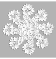 Grey flowers vector