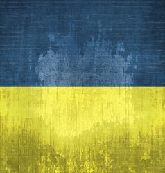 Grunge Flag Of Ukraine vector