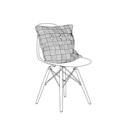 hand drawn interior detail chairs and resting vector image