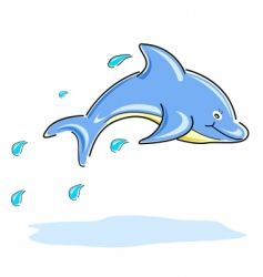 Happy dolphin vector
