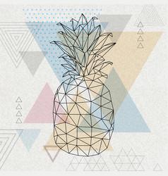 Hipster geometric polygonal fruit pineapple vector