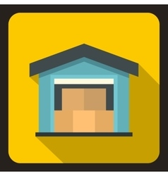 House icon flat style vector image