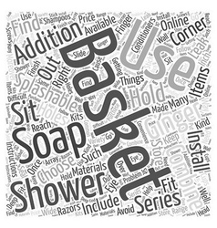 How to choose your right shower basket Word Cloud vector