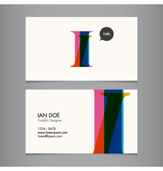 I business card vector