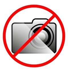 Icon ban on use camera vector