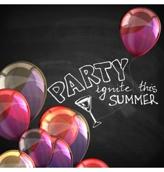 Ignite this summer party holiday with flying vector