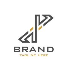 initial logo design x vector image