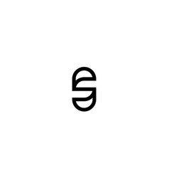initial s with line style logo design concept vector image