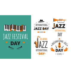 Jazz festival musical instruments music genre vector