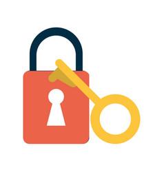 key lock close vector image