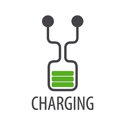 Logo abstract battery charge vector