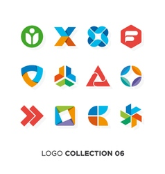 logo collection 6 vector image