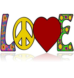 Love in the sixties vector