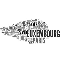 Luxembourg word cloud concept vector
