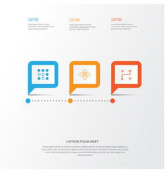 Machine icons set collection of computing vector