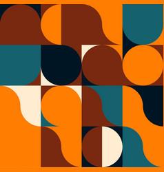 Mid-century abstract pattern vector