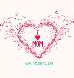 Mothers day music elementsand greeting card vector